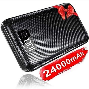 KEDRON 24000mAh Power Bank Cargador Móvil Portátil Batería Externa con Entrada Doble y 3 Puertos de Salida USB & Pantalla Digital para Android/iOS ...