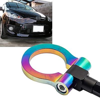 Xotic Tech Neo Chrome JDM Sporty CNC Aluminum Front Bumper Tow Hook for Mazda CX-5 2013-2020, Fit Mazda MX-5 Miata 2016-2020: Automotive