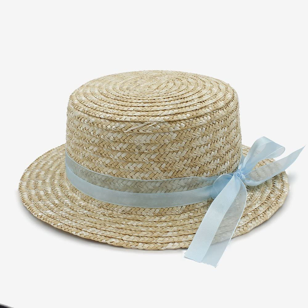 SHENTIANWEI Fashion Classical Style Sun hat for Women Bowknot mat hat Elegant Lady Womens Summer Bow Stubble Hats
