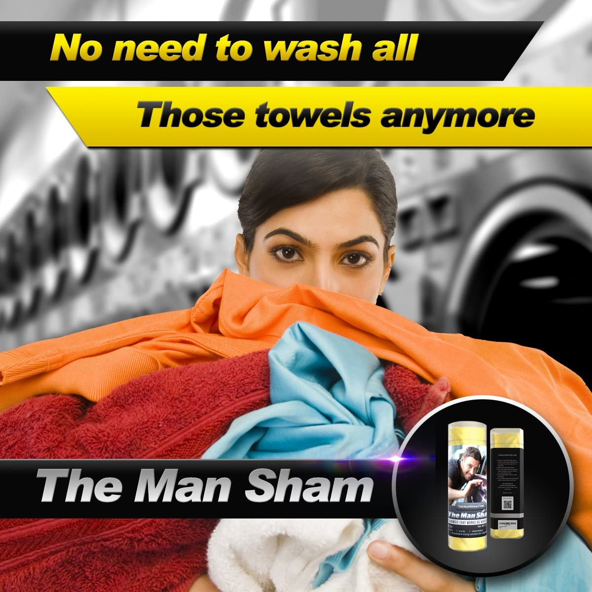 Scratch and Lint Free Shine Ultimate Towel for Fast Drying of Your Car or Truck The Man Sham Chamois Cloth Mens Gift