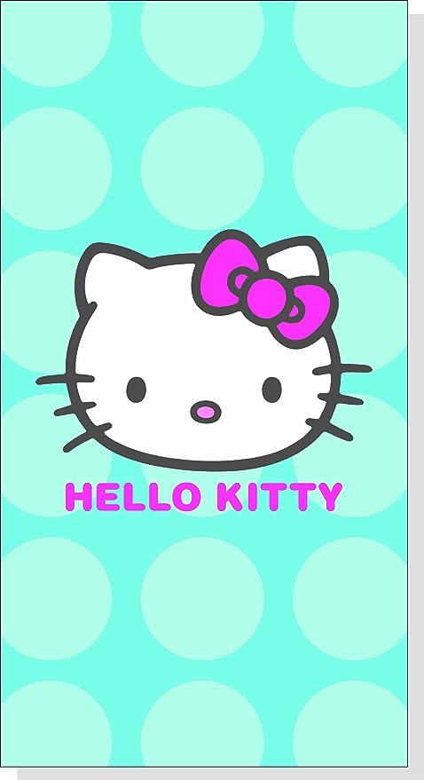 CTI 038165 - Toalla de Hello Kitty (85 x 160 cm, terciopelo),