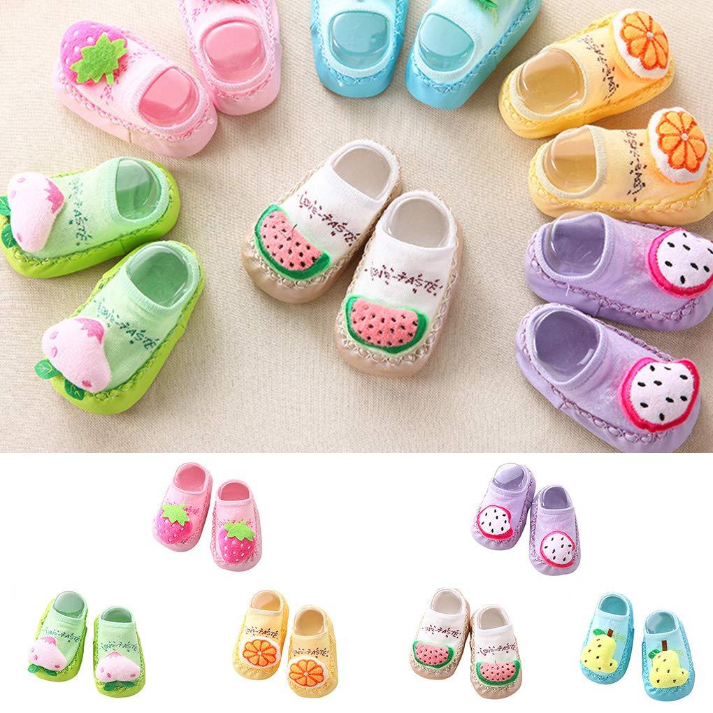 Coddington 1 Paio di Bambino di Gomma delle Suole Infant Sock Newborn Autunno Inverno Bambini Calzini del Pavimento dei Scarpe Anti Slittamento Morbido Sole Sock