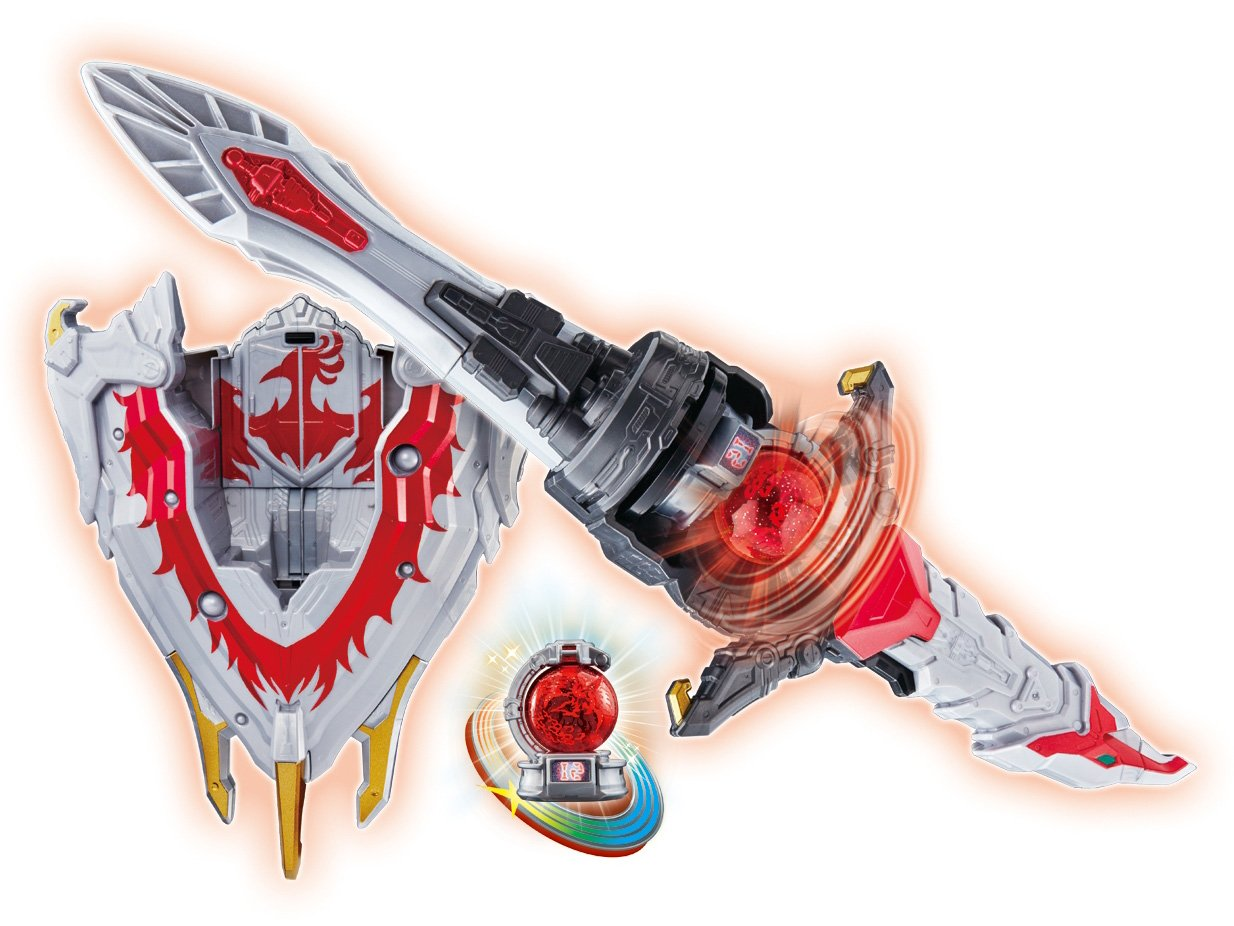 Space Squadron Kyurenger Transformation Sword Sword DX HOOU BLADE & HOOU SHIELD