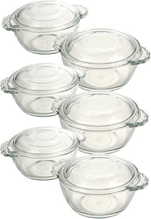 1.5L Pasabahce Casserole Round Glass Oven Dish with Lid Bakeware Microwave Safe