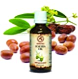 Jojoba Oil 100 ml 100 % Pure and Natural -Golden Jojoba Oil - Best benefits for Skin - Nails - Lips - Hair - Face - Body - Scalp - Multipurpose - an excellent with Essential Oil - Great for Beauty - Aromatherapy - SPA - Relaxation - Bath - Massage - Wellness - Glass Bottle - by AROMATIKA