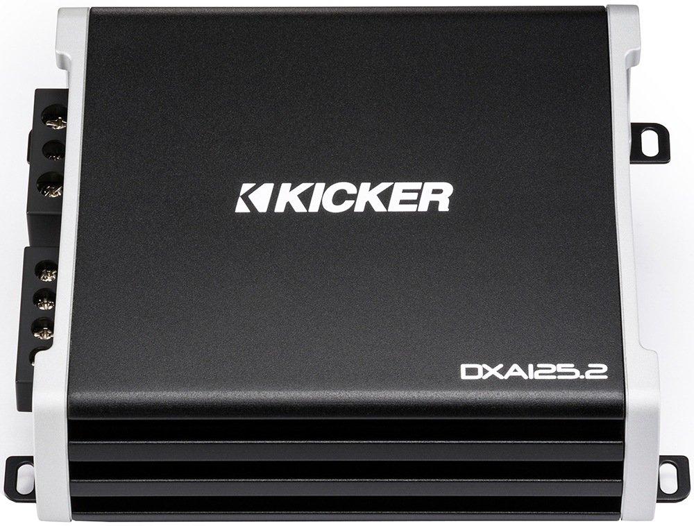 Kicker 43DXA125.2 125-Watt 2-Channel Full-Range Car Amplifier 43DXA1252