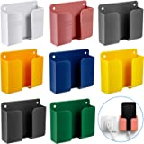 8 Pieces Wall Mount Phone Holder Adhesive Remote Control Storage Box Wall Mount Charging Phone Stand Holder Adhesive Non Slip
