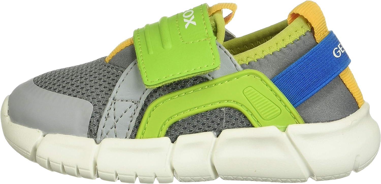 Geox Boys Junior Flexyper Sports Trainers 28 M EU// 10.5 M US Little Kid Grey//Lime Green