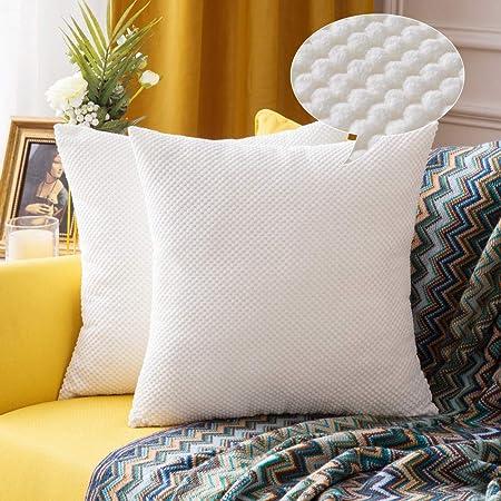 Cuscini Fodere.Miulee Confezione Da 2 Federe Granulari Piccole Per Cuscini Fodere