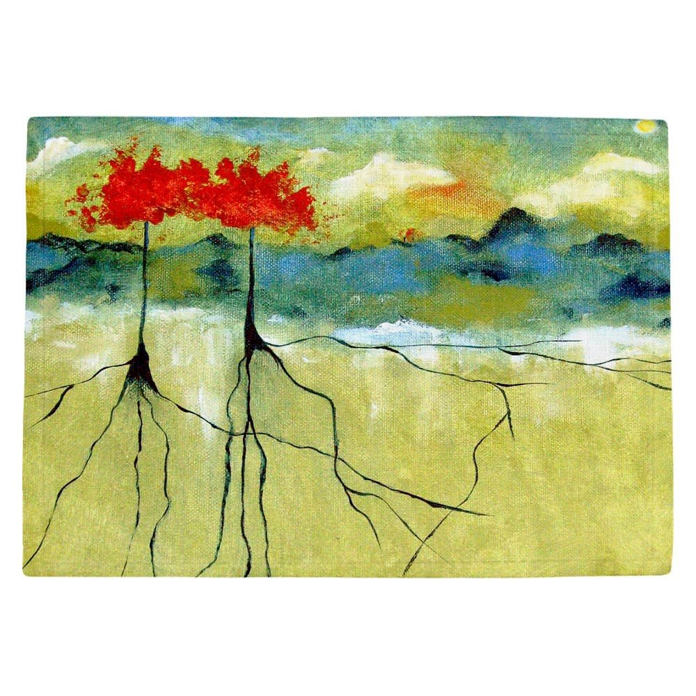 DIANOCHEキッチンPlaceマットby Ruth Palmer – Deep Roots Set of 4 Placemats PM-RuthPalmerDeepRoots2 Set of 4 Placemats  B01EXSI2XQ