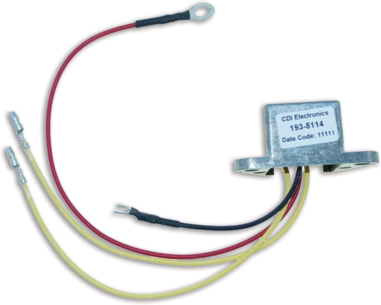 2//3//4//6 Cyl CDI Electronics 193-3408 Johnson//Evinrude Regulated Rectifier
