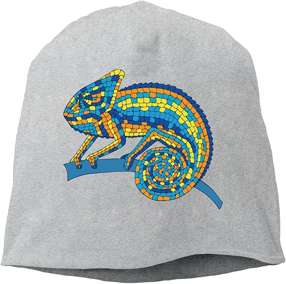 Headscarf Chameleon Lover Paint Hip-Hop Knitted Hat for Mens Womens Fashion Beanie Cap