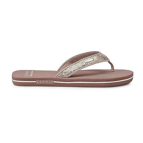 separation shoes 84cf1 ea2c3 ESPRIT Damen Badeschuhe Glitter Thongs 018EK1W043-685 rosa ...