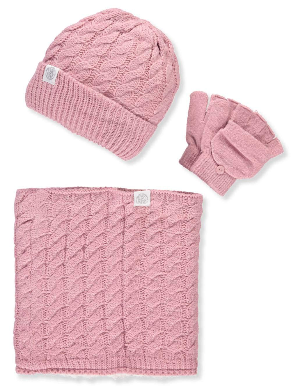 DKNY Girls' 3-Piece Winter Accessories Set - Pink, 7-16 by DKNY (Image #1)