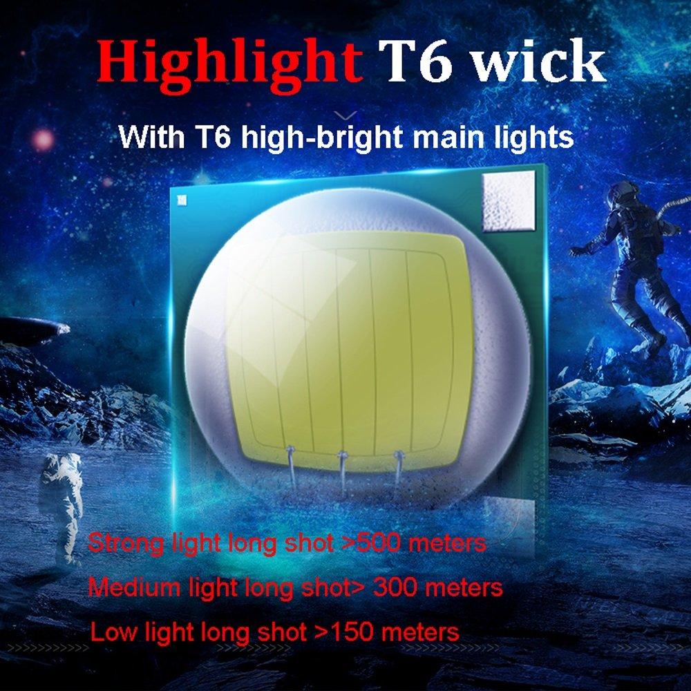 TLMYDD LED-Licht Wiederaufladbare Kopf-Taschenlampe Suchscheinwerfer Long-Range-Camping Nachtfischen Outdoor-Familie Suchscheinwerfer Kopf-Taschenlampe Taschenlampe (Ausgabe : B) 2545b4