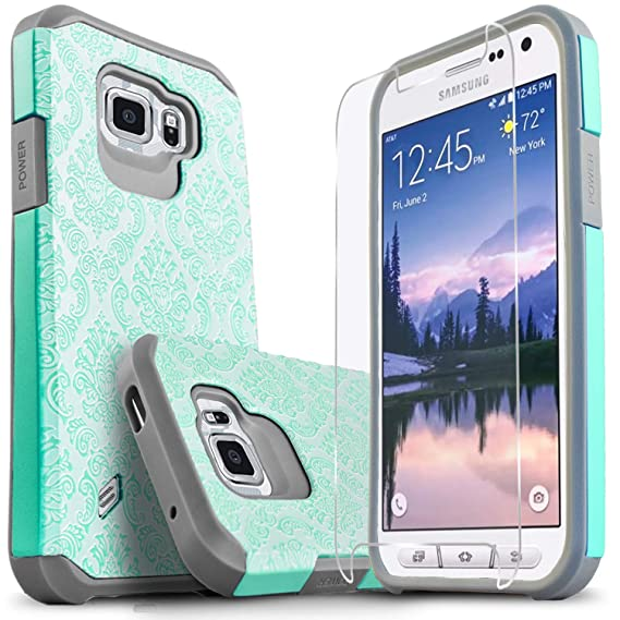 sale retailer 3b424 d07f3 Galaxy S6 Active Case, [Not Fit Galaxy S6] Starshop [Shock Absorption] Dual  Layers Impact Advanced Protective Cover with [Premium HD Screen Protector  ...