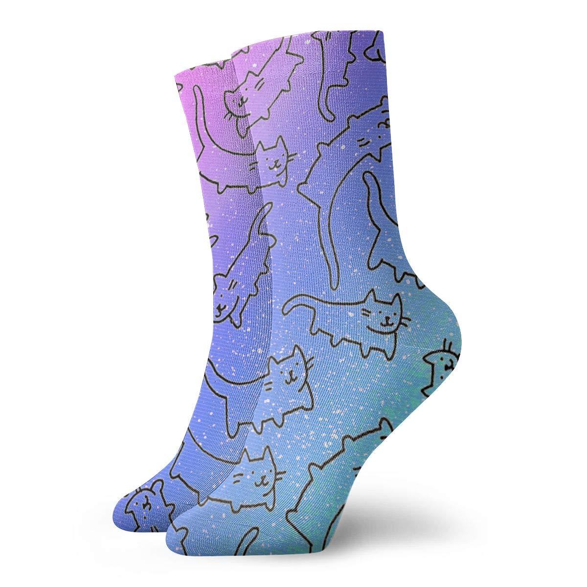 Cat Unisex Funny Casual Crew Socks Athletic Socks For Boys Girls Kids Teenagers
