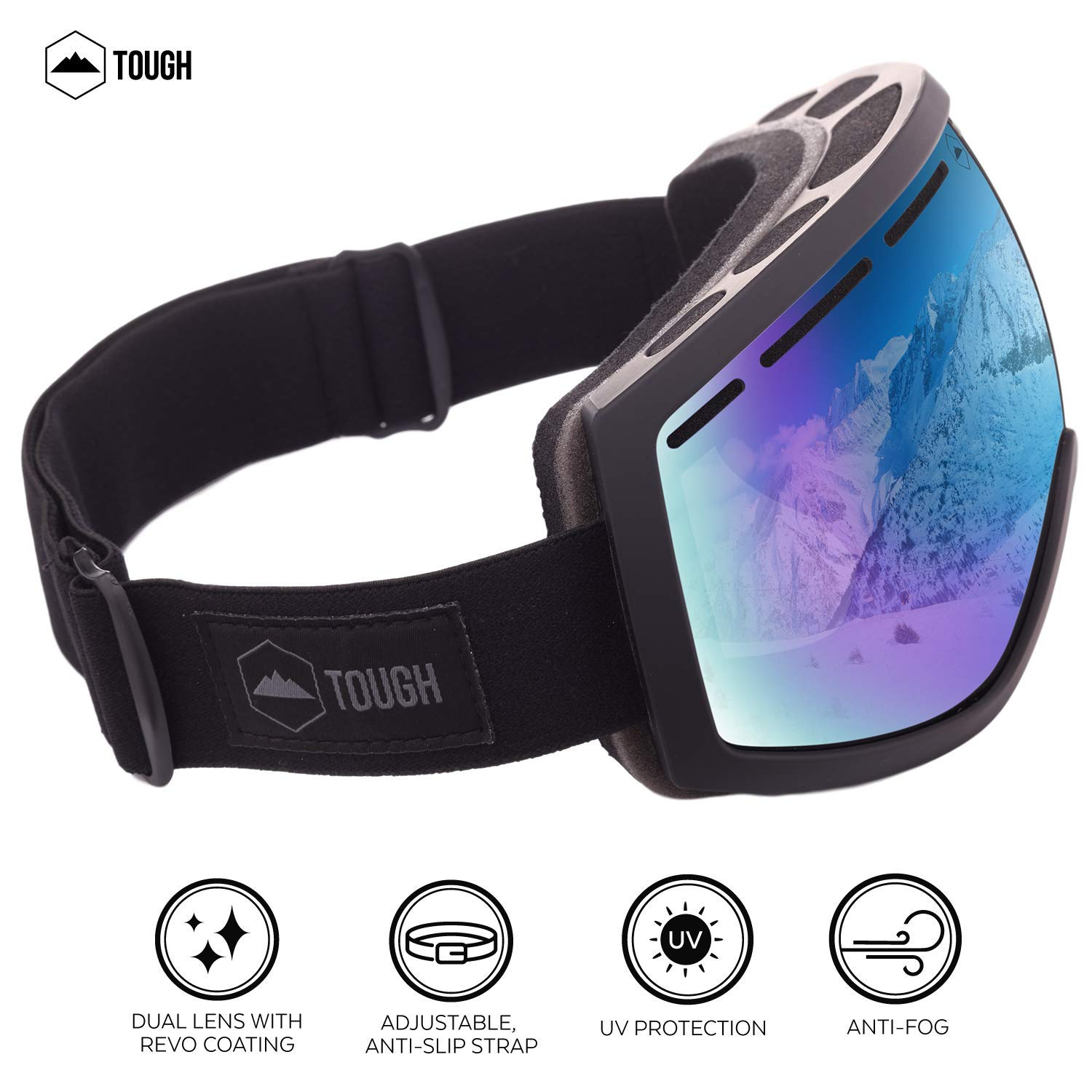 UV400 Protection Dual-Layer Lens Snow Goggles for Skiing Women /& Youth Fits Men Anti-Fog and Helmet Compatible Snowboarding Motorcycling /& Winter Sports Ski /& Snowboard Goggles