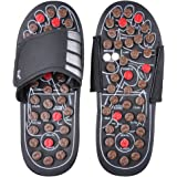 BIAL EX Massage Slipper Shoes Rotating Accupressure Foot Slippers for Men Women ( Average Size )