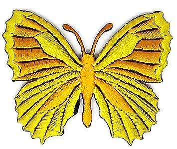 Bonito chaleco de oro amarillo con diseño de mariposas y dibujos animados de Hippie, retro, para moto, camiseta, parche para coser, planchar sobre el ...