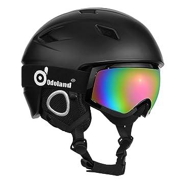 73bd5b9af7c Casco de nieve con gafas de esquí
