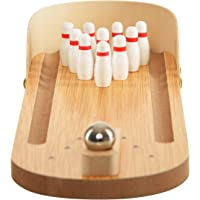 Trinkets & More® - Miniature Bowling Ball Game | Desktop Office Indoor Games | Corporate Training and Workshop | Stress Relief for Adults and Kids