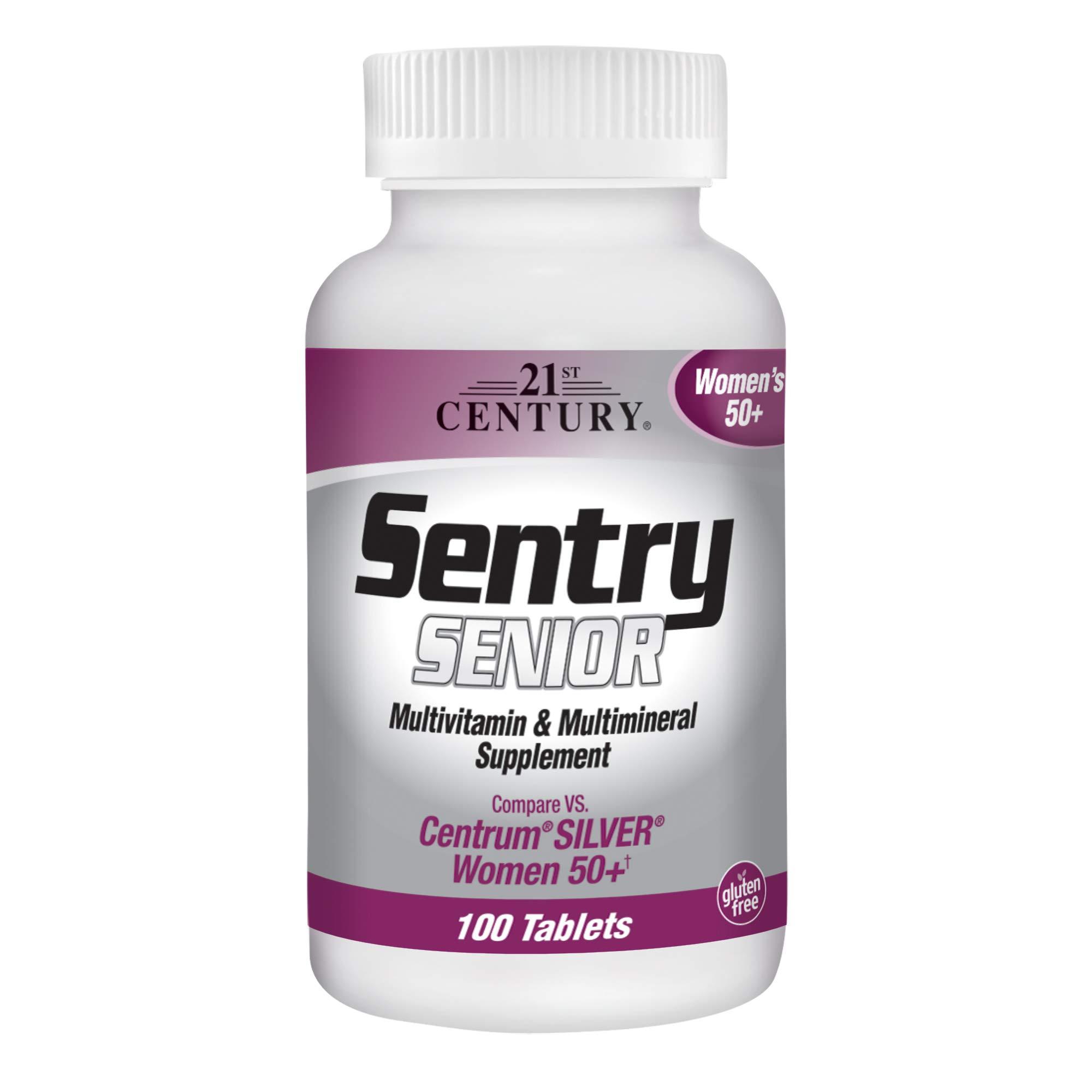 21st Century Sentry Senior Women 50 Plus Tablets, 100 Count (27542)