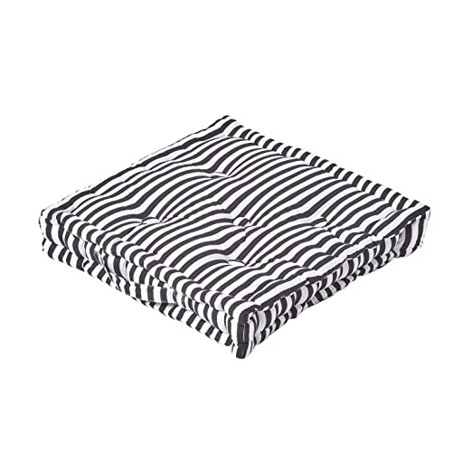 Homescapes Pin Stripe Negro Asiento Cojín, 100% algodón ...