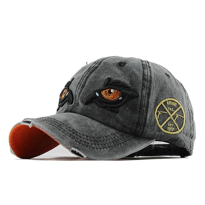 edf47807f5d Amazon.com  Washed Cotton Men Cap Baseball Caps Hip Hop Snapback Dad Hat  for Women Cap Trucker Embroidery Eagle Eye  Clothing
