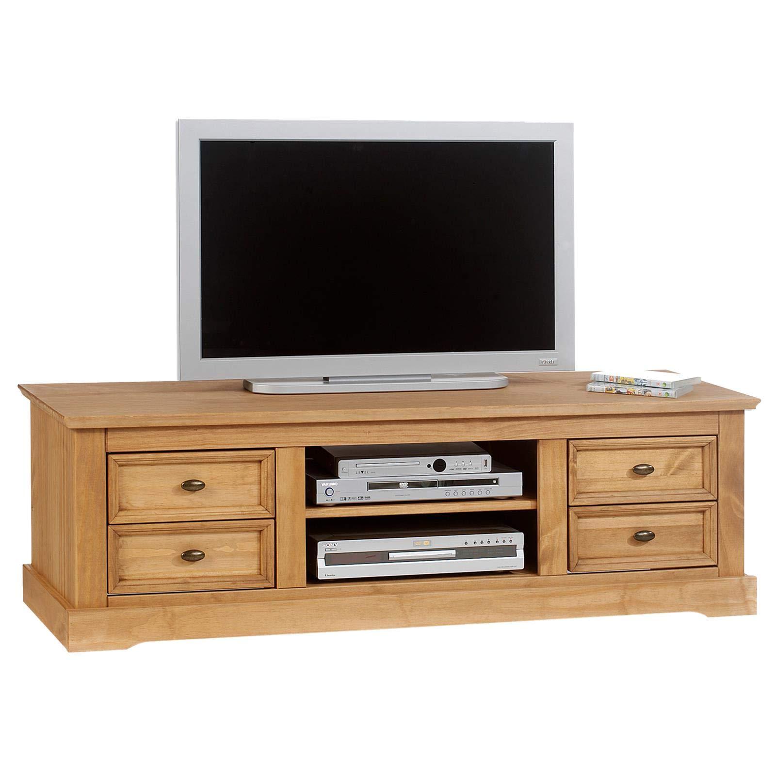 idimex tv lowboard kent aus kiefer massiv fernsehschrank tisch element bank rack hifi mobel