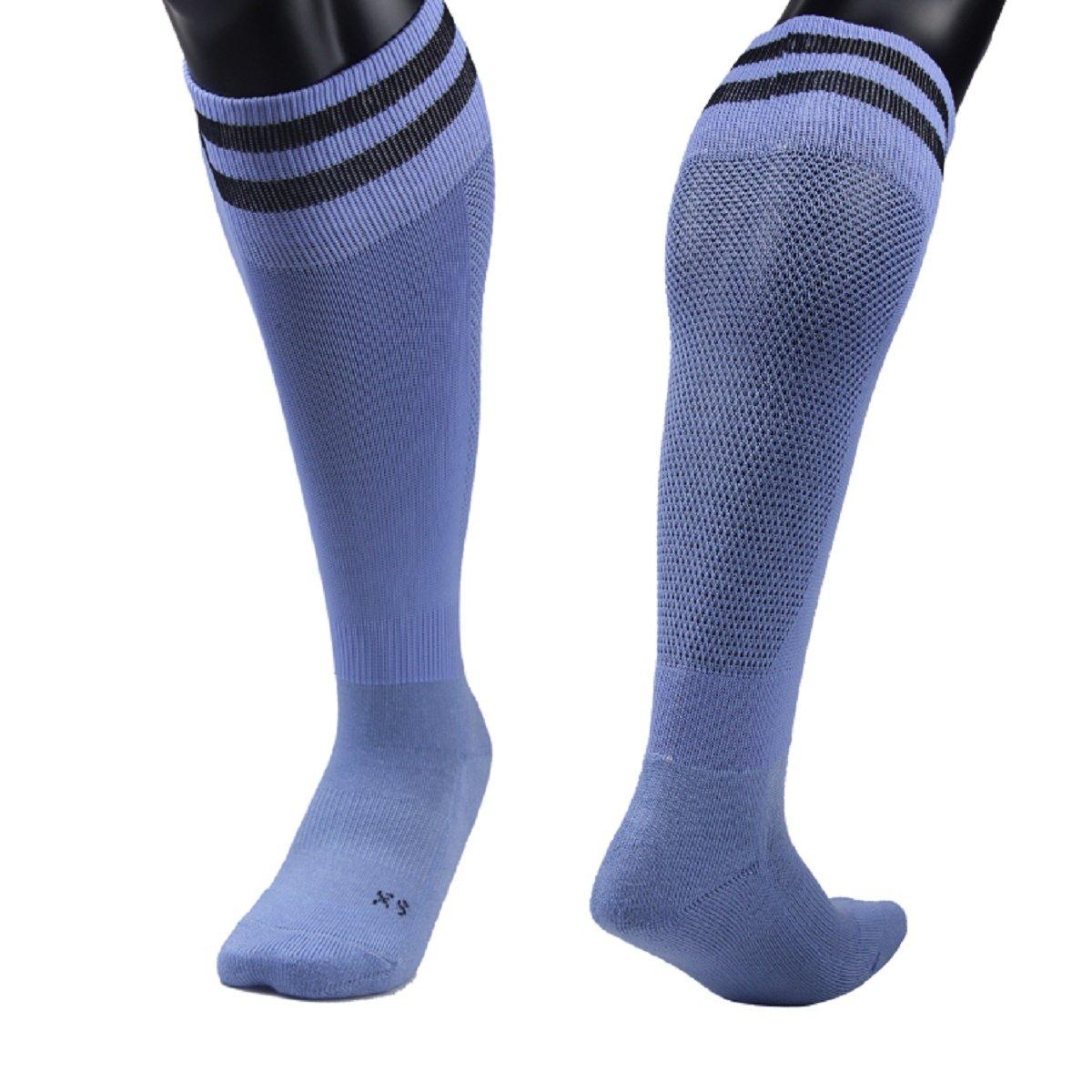 Lian LifeStyle Girl's 1 Pair Knee Length Sports Athletics Socks Striped 003 XXS/XS/S/M