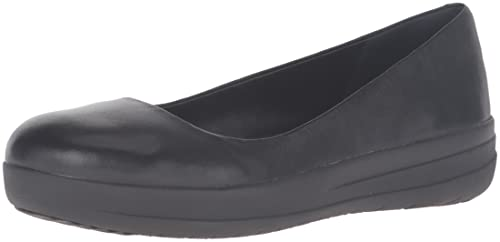 Womens F-Sporty Ballerina Leather Ballet Flats FitFlop 7UZu7KiIH