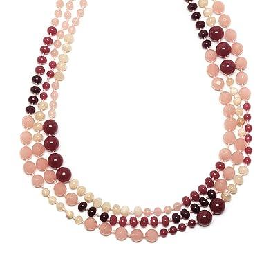 Lola Rose Bethanie Ballet Pink Quartz Necklace of Length 80-104cm q8bYl1EQbz