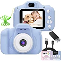 Kids Camera, 1080P FHD Digital Video Recorder Shockproof Action Cameras with 2 Inch IPS…