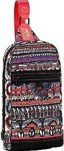 Sakroots Hiker Sling Backpack (Camel One World)