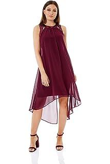 Check Tiered 100/% Cotton Swing Dress Women Roman Originals