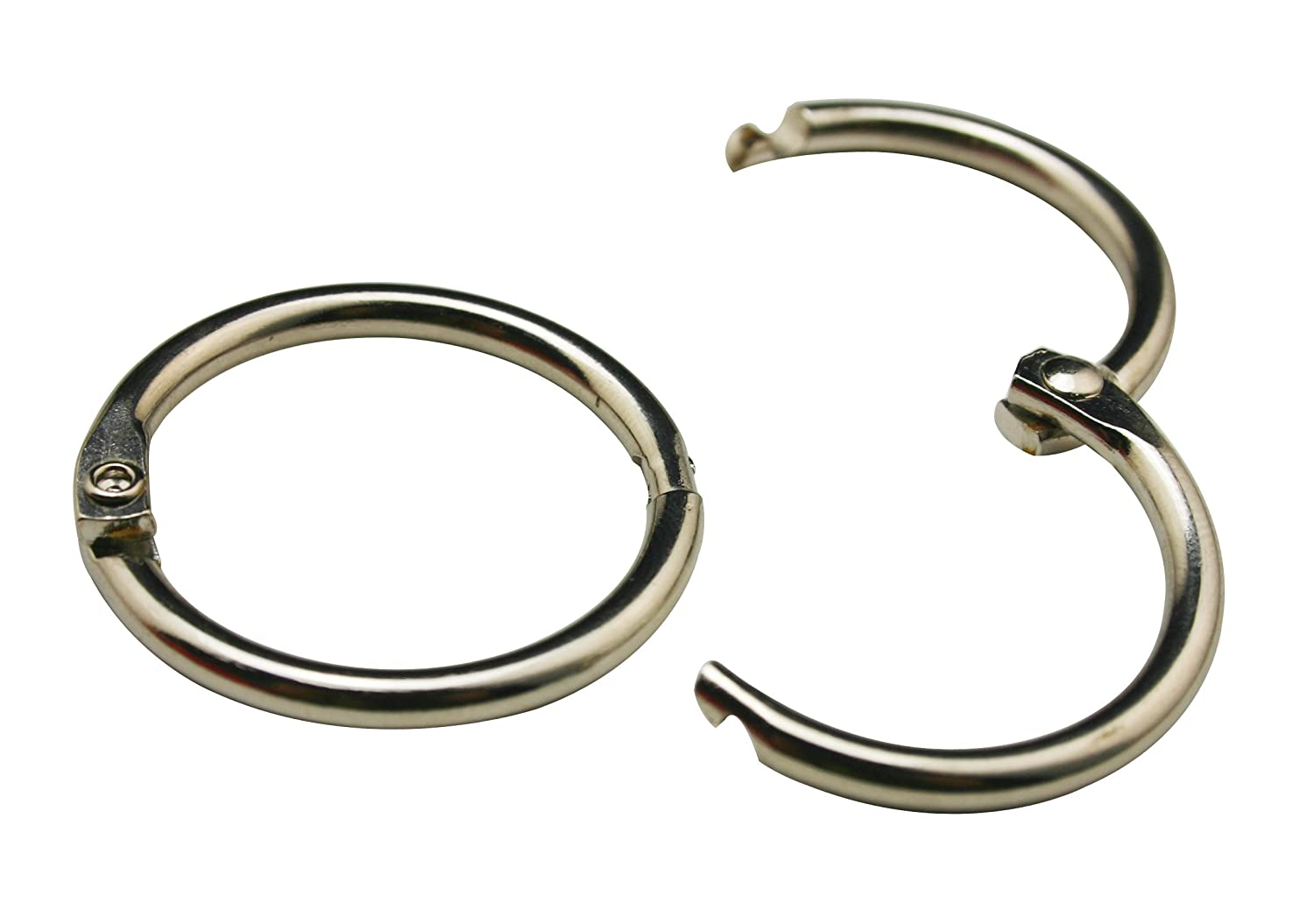 Chuzhao Wu 1.25 Inches Metal Silvery Book Binding Rings For Scrapbook Album DIY Accessories(Pack Of 20)