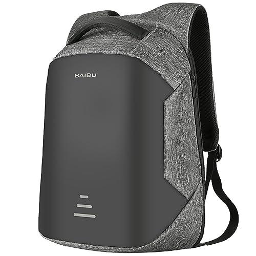 30b580a8dd46 バックパック 盗難防止バックパック ビジネスリュック ラップトップバックパック 耐衝撃USB充電