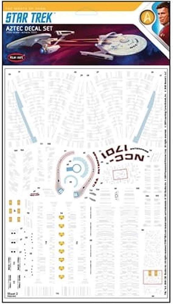 Polar Lights Star Trek Azteken Aufkleber Set Für Die Verwendung Mit Enterprise Und Reliant Kits 1 1000 Mka040 Auto