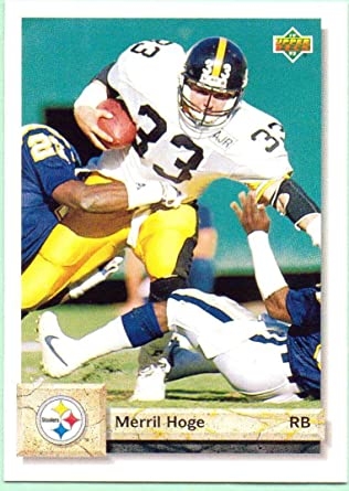 Merril Hoge 1992 Upper Deck #619 - Pittsburgh Steelers at Amazon's ...