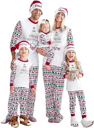 Conjunto de Familiares Ropa De Dormir Pijama de Navidad 2 ...