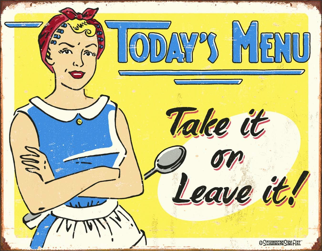 Teach A Man to Fish Tin Sign Desperate Enterprises Schonberg 12.5 W x 16 H