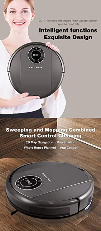 Generic LIECTROUX ZK808 Robot Vacuum Cleaner WiFi