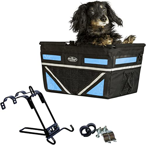 Travelin-K9-Pet-Pilot-MAX-Dog-Bicycle-Basket-Carrier