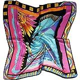 ETSYG 32'' Silk Scarf Women's Fashion Pattern Large Square Satin Headscarf Headdress