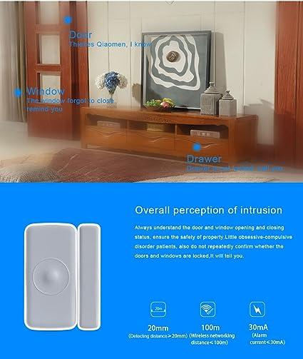 Sensor de Puerta/Ventana Z Wave, sensor para automatización de hogar inteligente