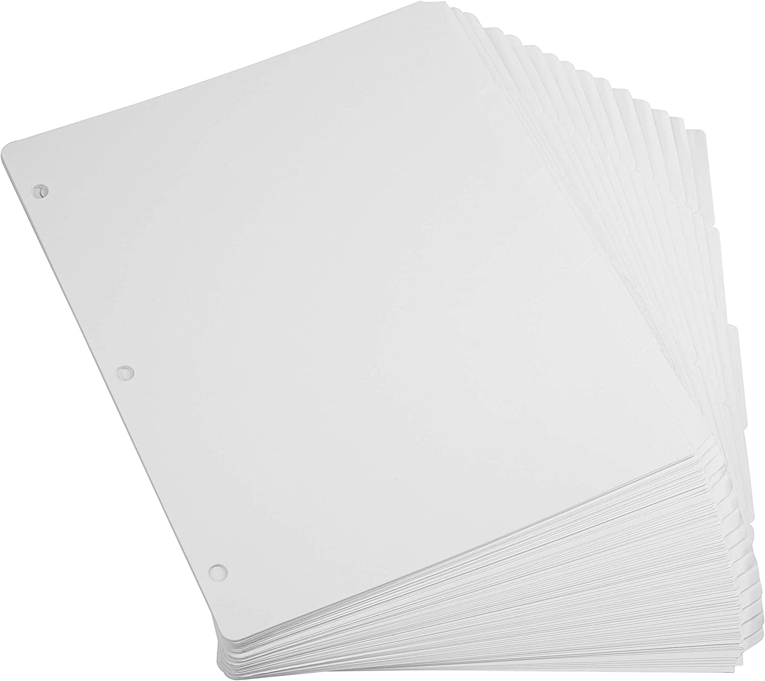 Fasmov 120 Page Divider Pack 3 Ring Binder Dividers with Reinforced Edge, Binder Index Dividers 1/5-Cut Tab, Letter Size
