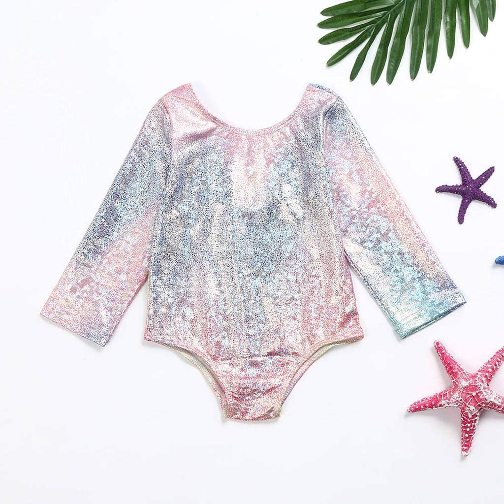 Baby Girls One Piece Swimsuit Beach Bathing Suit Little Kids//Toddler Swimwear Floral Romper Rashguard Cover Up