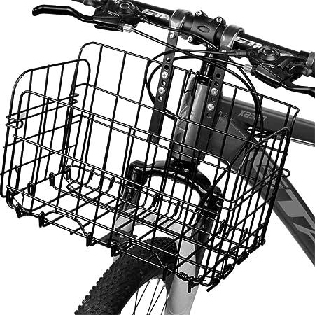 FuYouTa Cesta de Bicicleta Delantera Cesta de Mimbre para Bicicleta Bicicleta Bicicleta Cesta Delantera de Ciclo Desmontable Bicicleta para Ni/ños Cesta de Mimbre de Pl/ástico Barra de La