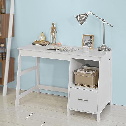 SoBuy Mesa de Escritorio, Mesa de Ordenador con 1 cajón y 1 ...